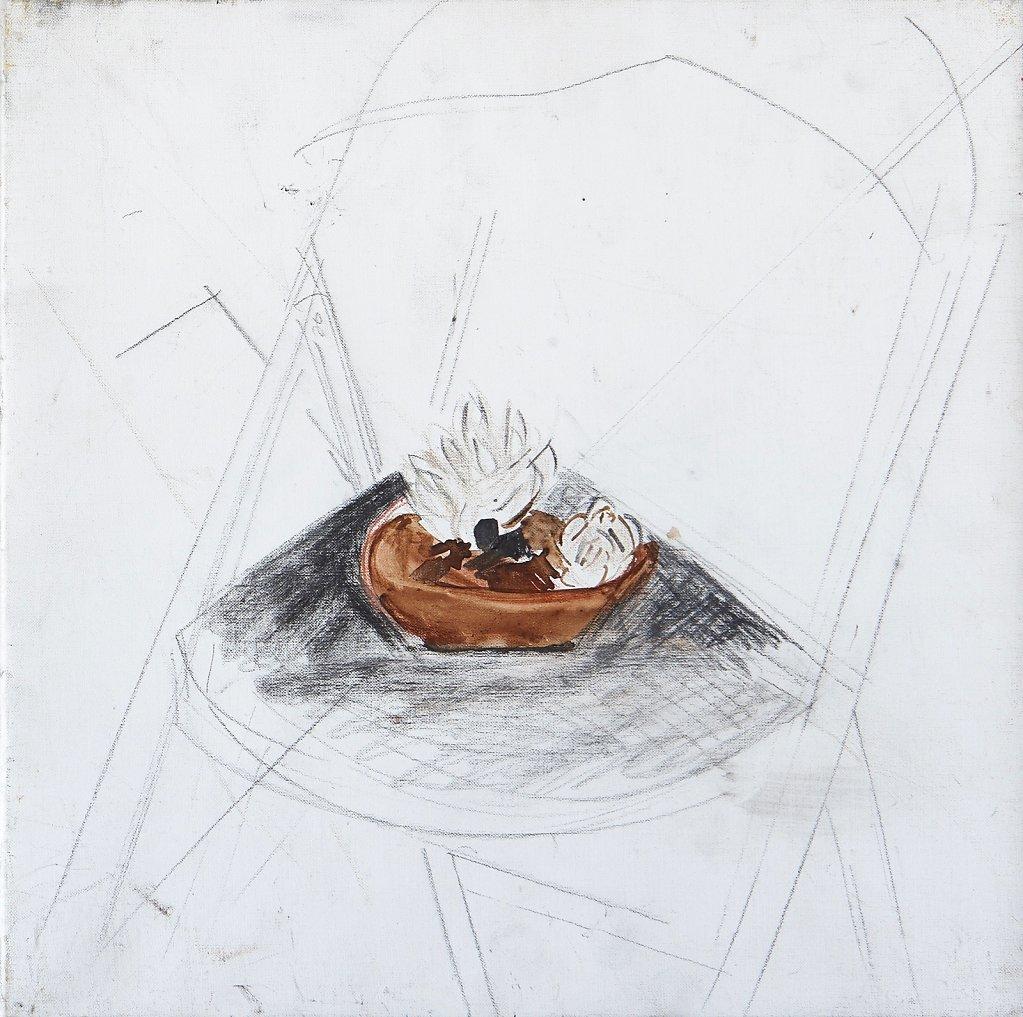 ile et crayon/toile - 2010- 30x30cm
