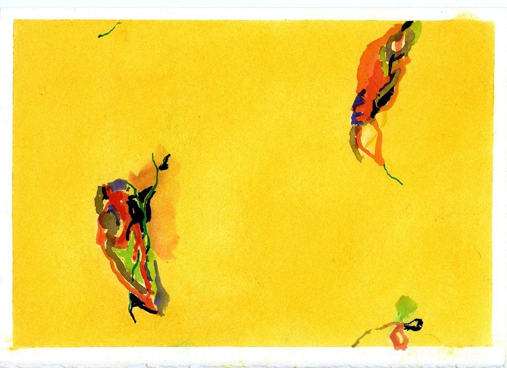 """""""Été"""" gouache et pigments/Papier 21x29,7cm 2018"""