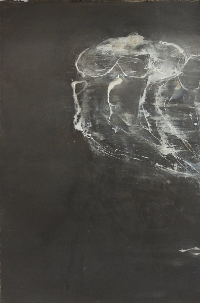 Déplacement, Encres et huiles sur papier, 33x22cm, 2018